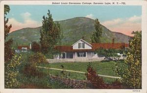 New York Saranac Lake Robert Louis Stevenson Cottage Curteich