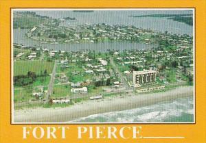 Florida Fort Pierce Aerial View Of Fort Pierce Florida Along The Atlantic Ocean