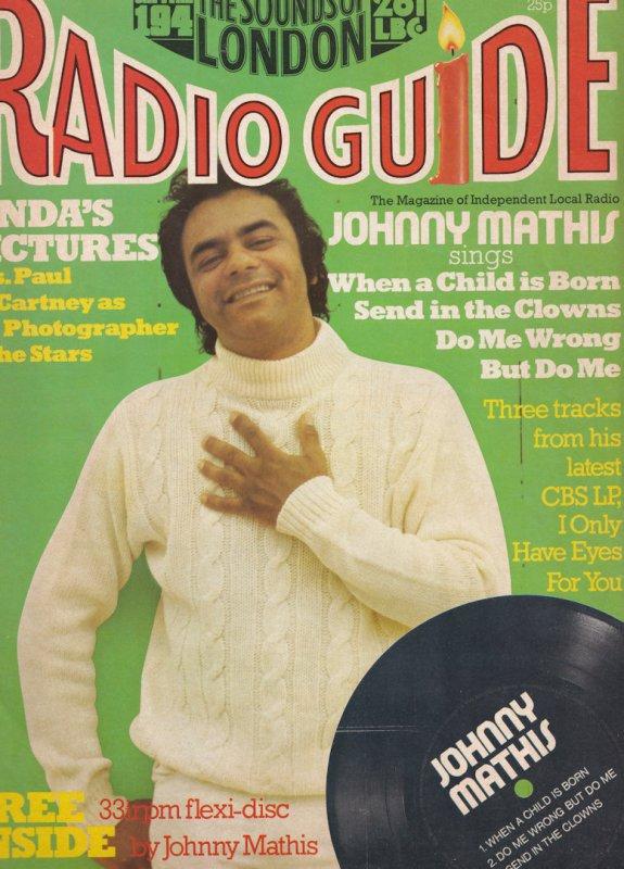 Johnny Mathis Paul Linda McCartney Flexidisc Radio Guide Magazine