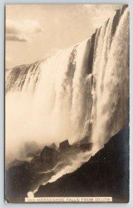 Ontario From Niagara Falls NY~SHARP! Closeup Horseshoe Falls from Below~c1910