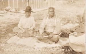 RP:, Milie Lacs Lake , Minnesota, 1910-20s: Indian Bow & Arrow Makers