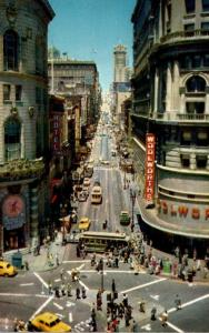 California San Francisco Powell At Market Street With Cable Car On Turntable