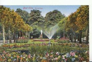 Germany Postcard - Bad Ems - Kuranlage - Ref 18293A