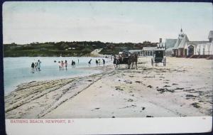 Bathing Beach Newport RI Undivided Back