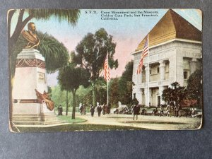 Grant Monument & Museum Golden Gate Park SF CA Litho Postcard H1158093324