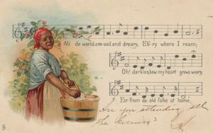 Song ; All de Wlorld am sad & Dreary ,1901-07 ;TUCK Negro Melodies Series2398