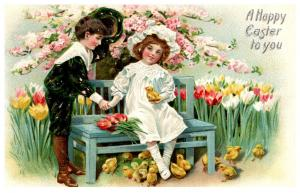 Easter  Victorian Children , Tuck's no. 700