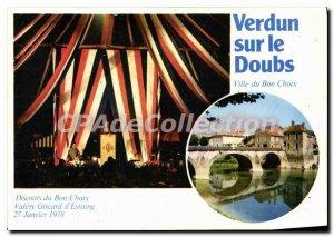 Modern Postcard Verdun sur le Doubs City Good Choice