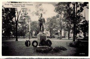 Massachusetts Mansfield Common and World War Memorial Dexter Press