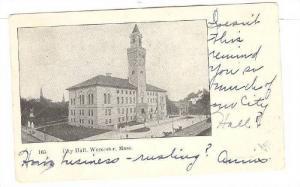 Exterior, City Hall, Worcester, Massachusetts, PU-00-10s