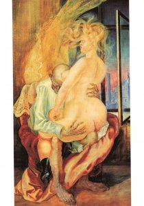 Otto Dix 1925 Ungleiches Liebespaar Stuttgart Painting Postcard