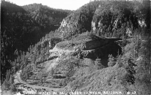 Flagstaff Sedona Arizona 1940s Switchbacks #0-13 RPPC Photo Postcard 21-758
