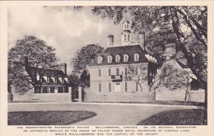 The Reconstructed Governor's Palace Williamburg Virginia