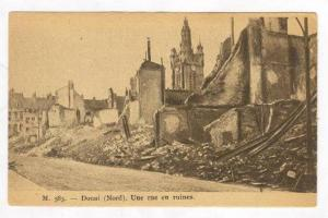 Une Rue En Ruines, Douai (Nord), France, 1900-10s