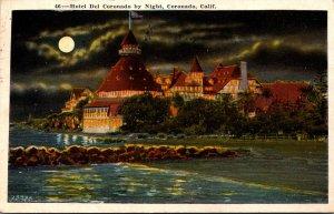 California Coronado Hotel Del Coronado By Night 1932