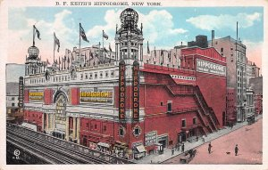 B. F. Keith's Hippodrome, New York City, N.Y., Early Postcard, used in 1927