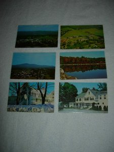 New London NH - Lot Of 6 Great Vintage Postcards - x0590