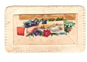 Fancy, Vising, Calling Card with Envelope, Miss Lenera Farnell