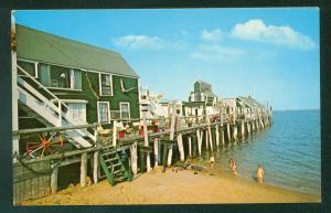 Captain Jack's Wharf Provincetown Cape Cod Massachusetts MA Vintage Postcard