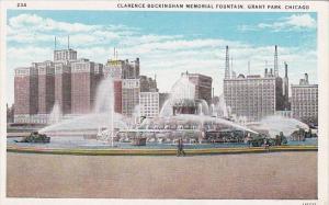 Illinois Chicago Clarnce Buckingham Memorial Fountain Grant Park