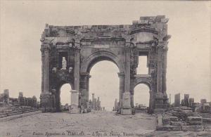 Tunisia Ruines Romaines de Timgad L'Arc de Trajan Facade ouest