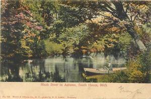 UND/B Black River in Autumn South Haven Michigan MI 1905