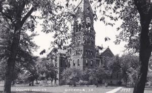 RP: OSCEOLA, Iowa, 1930-50s; Court House
