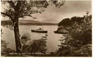 UK - Scotland. Skye, Loch Nevis arriving at Portree  *RPPC