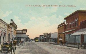 Tucson , Arizona , 1900-10s ; Stone Avenue , looking North
