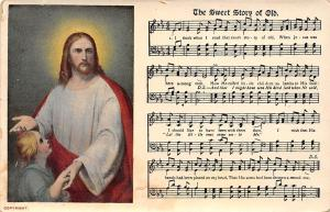 The Sweet Story of Old, Music Song Lyrics Notes, Religious Illustration