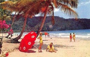 TRINIDAD Maracas Bay Caribbean Beach Pan American World Airways c1950s Postcard