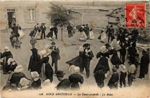 CPA Noce Bretonne La Danse preférée, La Ridee FRANCE FOLKLORE (789368)