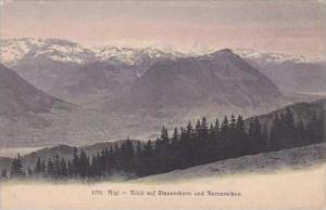 Switzerland Rigi Blick auf Stanserhorn und Berneralpen