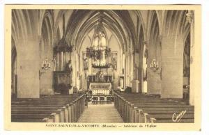Interieur De l'Eglise, Saint-Sauveur-le-Vicomte (Manche), France, 1900-1910s