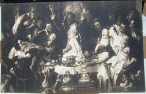 Belgium Art Jordaens Le Roi Boi Musee de Bruxelles - unposted