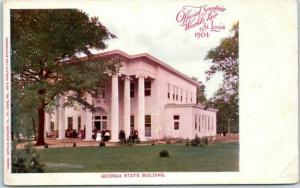 1904 St. Louis World's Fair Postcard GEORGIA STATE BUILDING Samuel Cupples Co