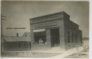 FLAXTON, NORTH DAKOTA FIRST BANK OF FLAXTON RPPC REAL PHOTO POSTCARD