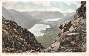 VIEW FROM TOP OF HONISTER CRAG CUMBRIA UK POSTCARD 1905
