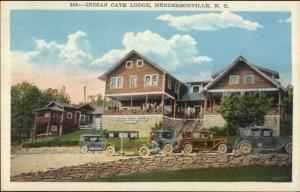 Hendersonville NC Indian Cave Lodge c1920 Postcard