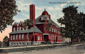 Montrose Public School, Montrose, Pennsylvania, Early Postcard, Used in 1917