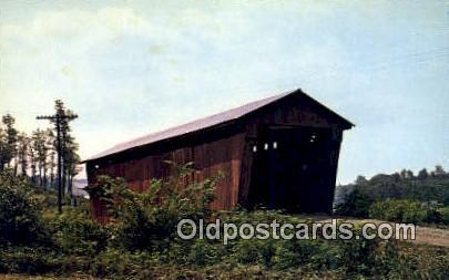 Athens Co, OH USA Covered Bridge Postcard Post Card Old Vintage Antique  Athe...