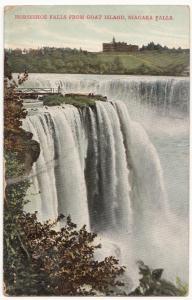 Horseshoe Falls from Goat Island, Niagara Falls, 1910, used Postcard