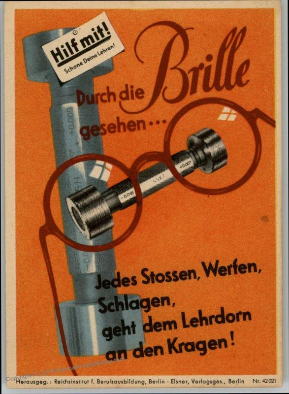 Germany WWII Material Savings Slogan Propaganda Placard Flyer 76855