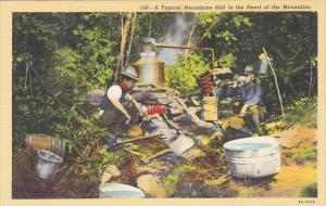 Typical Moonshine Still In The Heart Of The Mountains Curteich