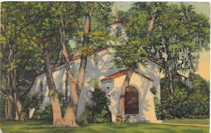 US Unused post card. Catholic Chapel, St Simons Island, Georgia