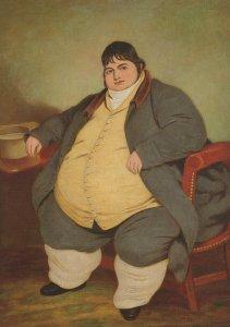 Daniel Lambert Biggest Fattest Man Stamford Leicester Postcard