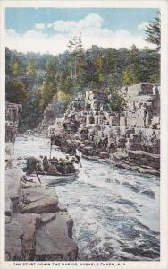 New York Ausable Chasm The Start Down The Rapids