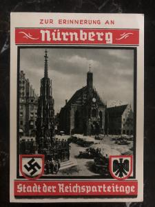 1937 Germany Picture Postcard cover Nurnberg city of Rally NSDAP Party