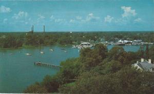 Aerial View, Hampton Yacht Club, Hampton, Virginia, 40-60´s
