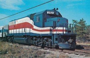 Long Island Railroad #252 at Ronkonkoma NY, New York 1976 Bicentennial Colors